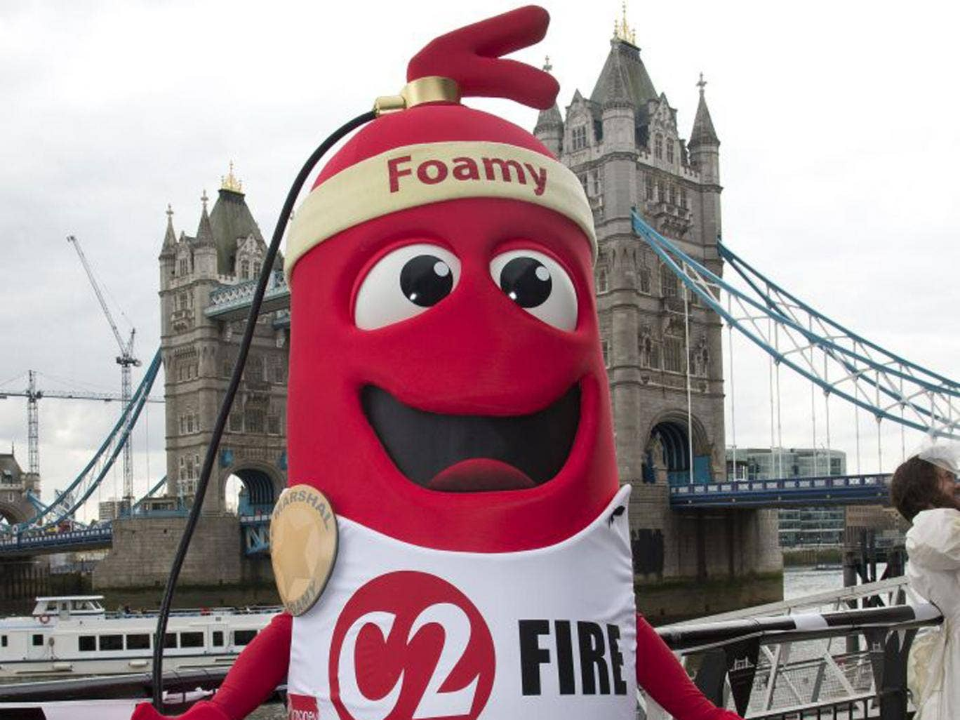 Among them will be 60 runners attempting to set an array of Guinness World Records – including Jerome Timbrell who hopes to complete the fastest marathon as a mascot while  dressed as a fire extinguisher