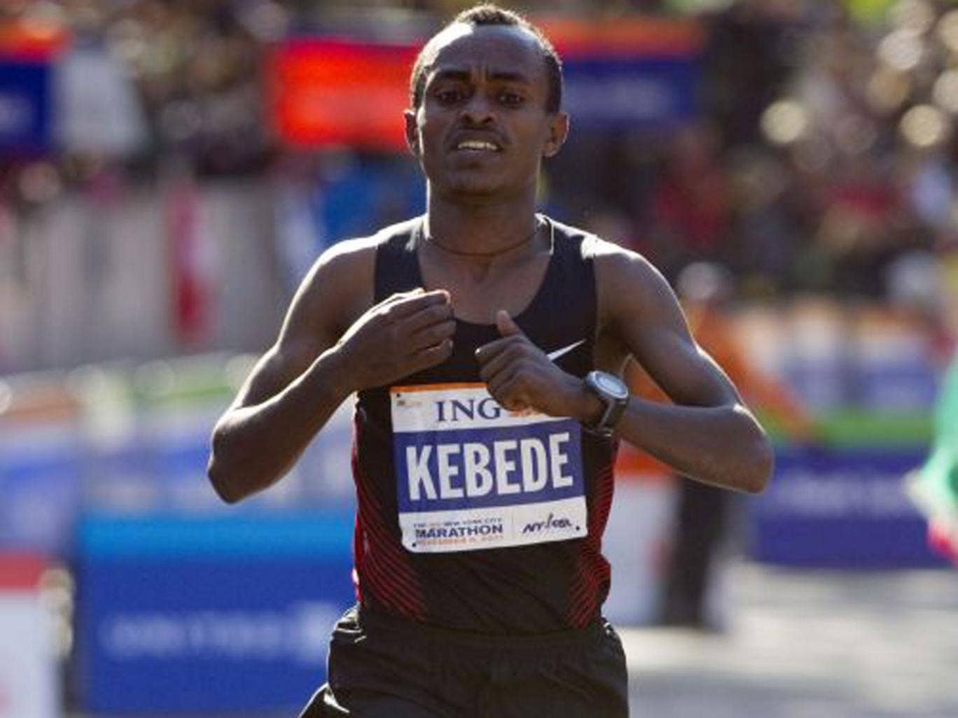 Ethiopian Tsegaye Kebede is  one of the runners who could spoil the Kenyans' party