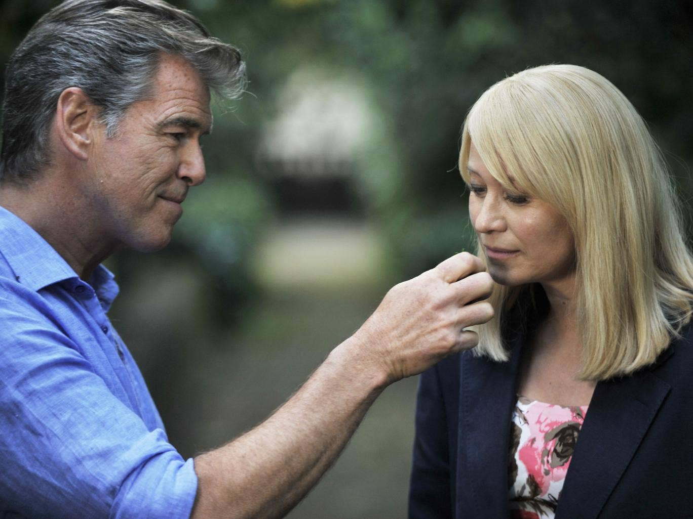 'That's amore': Pierce Brosnan with Trine Dyrholm in Italy