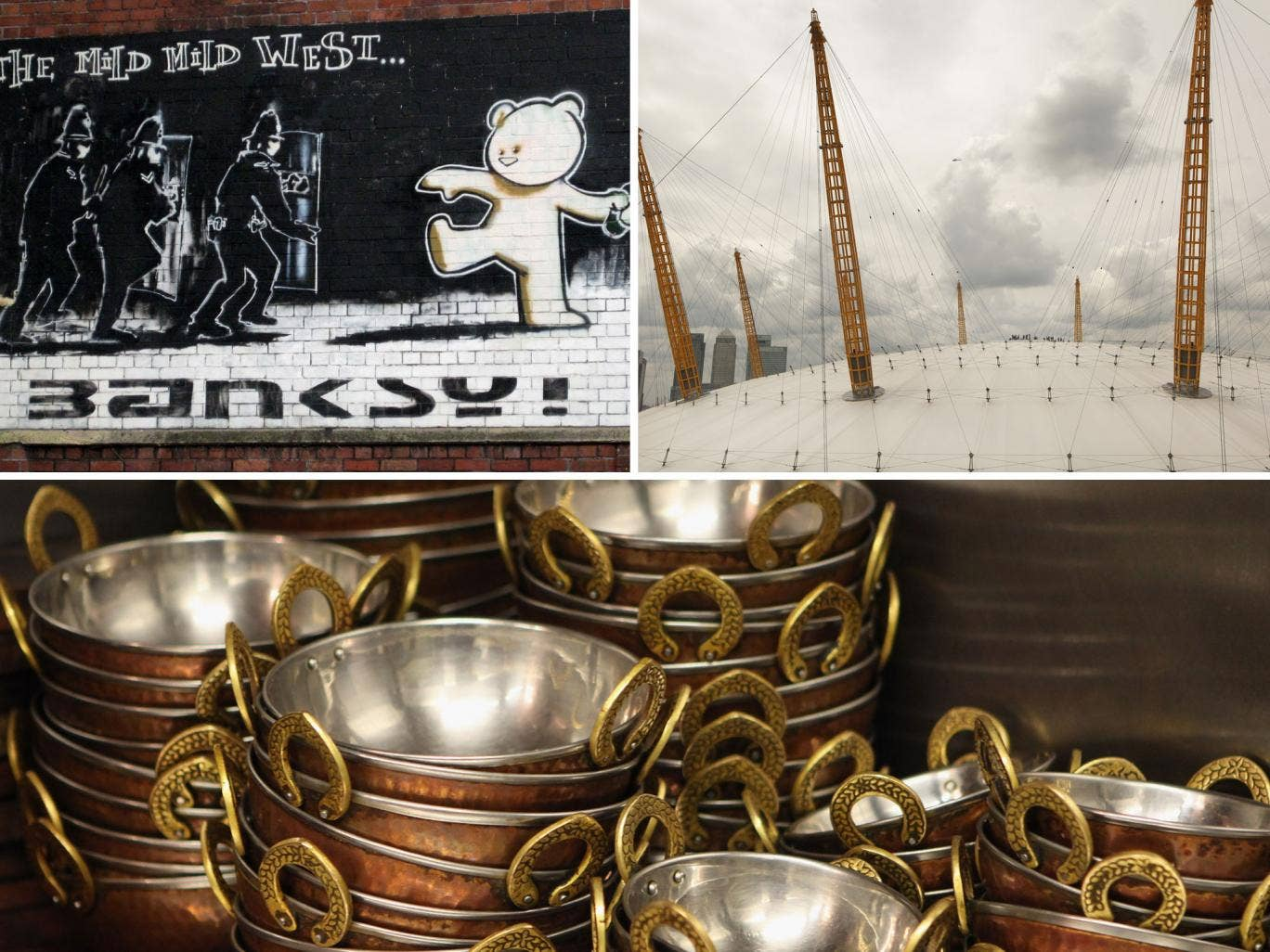Banksy, the Dome and curry are three of the things that symbolise the best of England