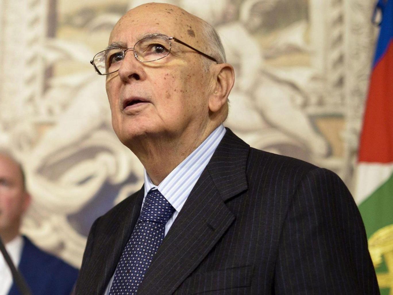 Giorgio Napolitano was re-elected as Italy's President