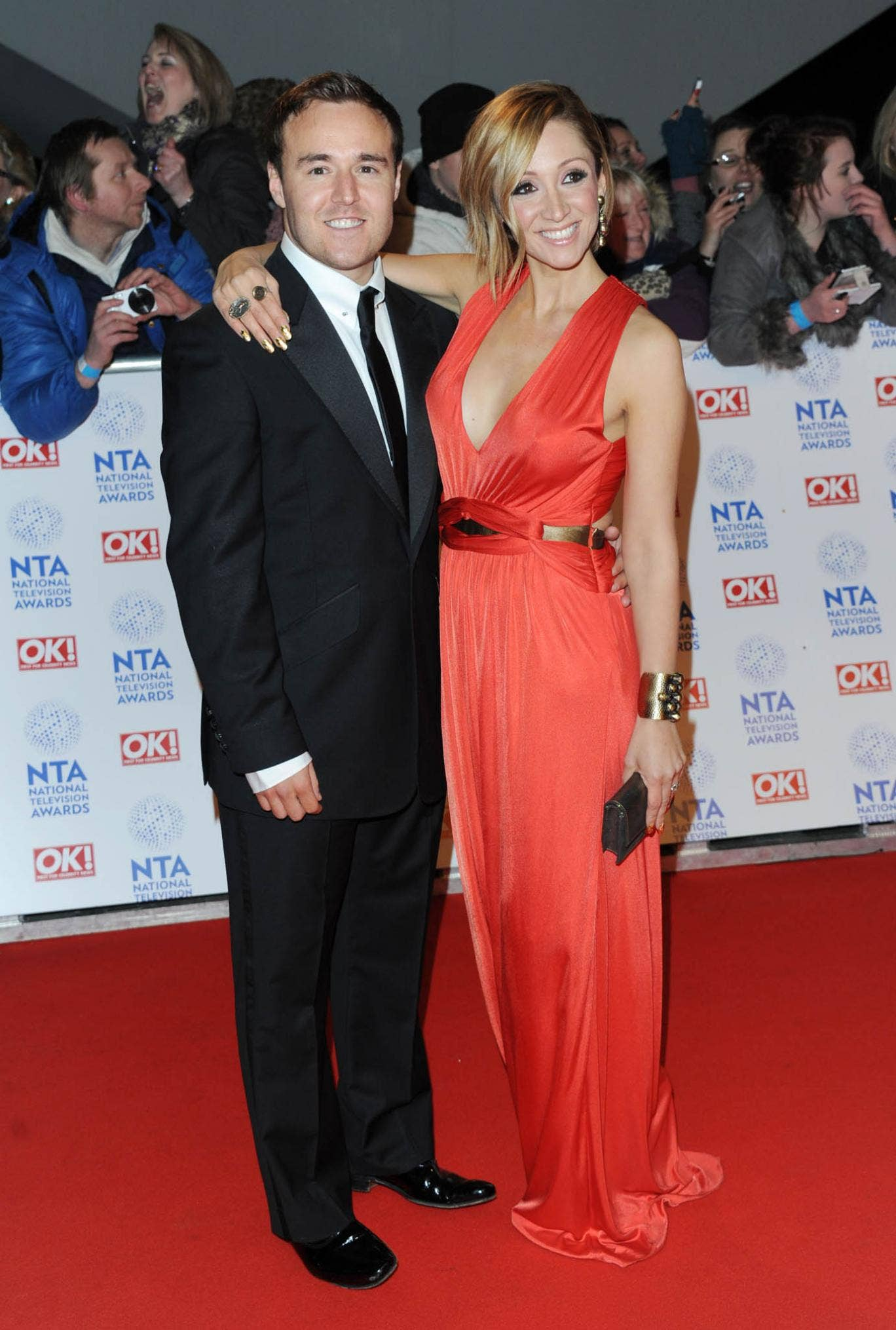 Alan Halsall and Lucy-Jo Hudson attend the National Television Awards at 02 Arena on January 23, 2013 in London