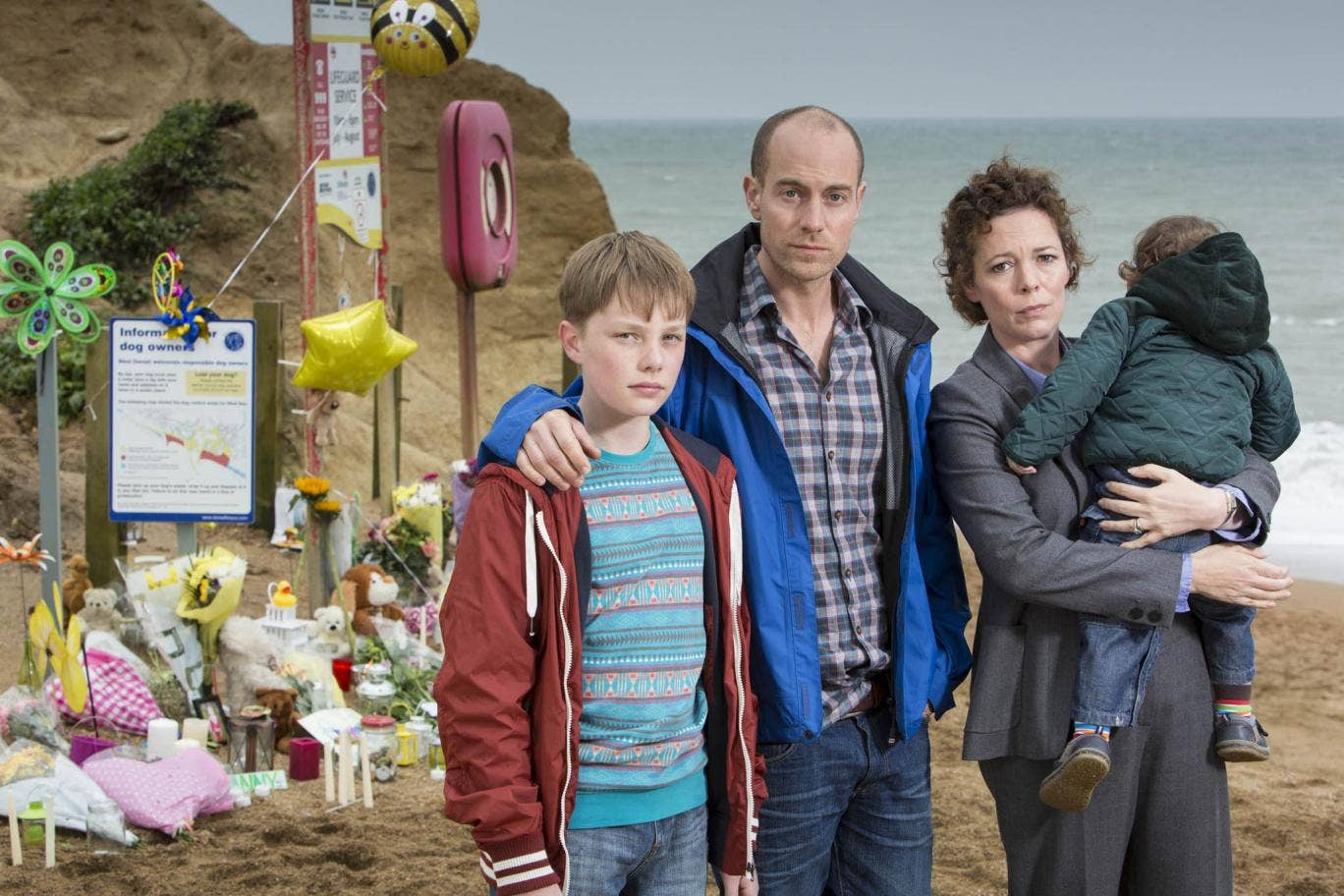 The Miller family from ITV drama Broadchurch