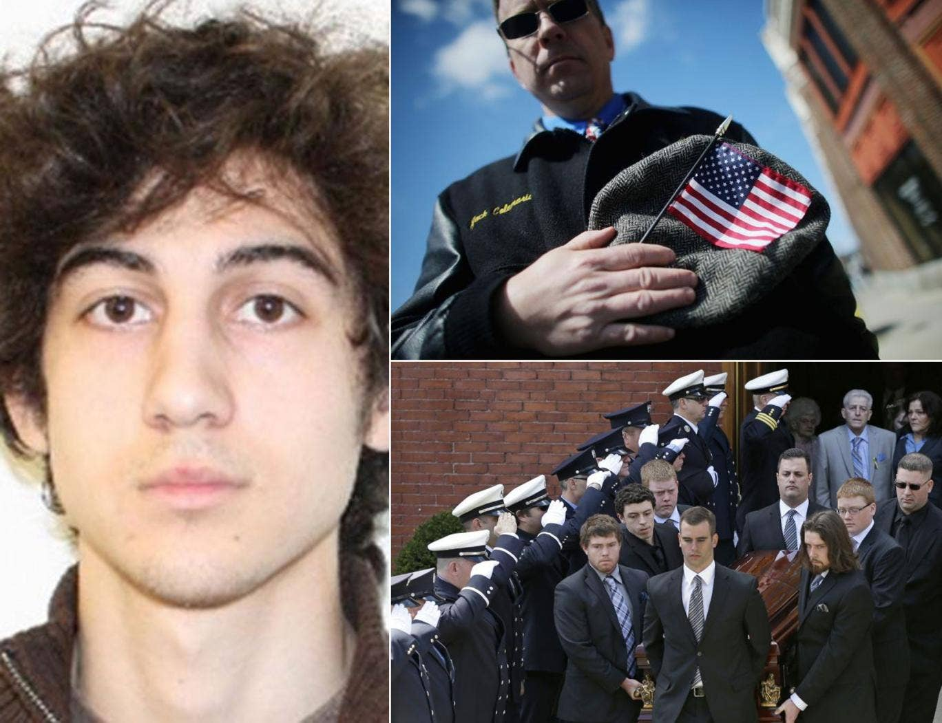 Boston bombing suspect Dzhokhar Tsaraev (main image) was charged by US federal prosecutors, on the same day that Boston laid to rest his alleged first victim, Krystle Campbell
