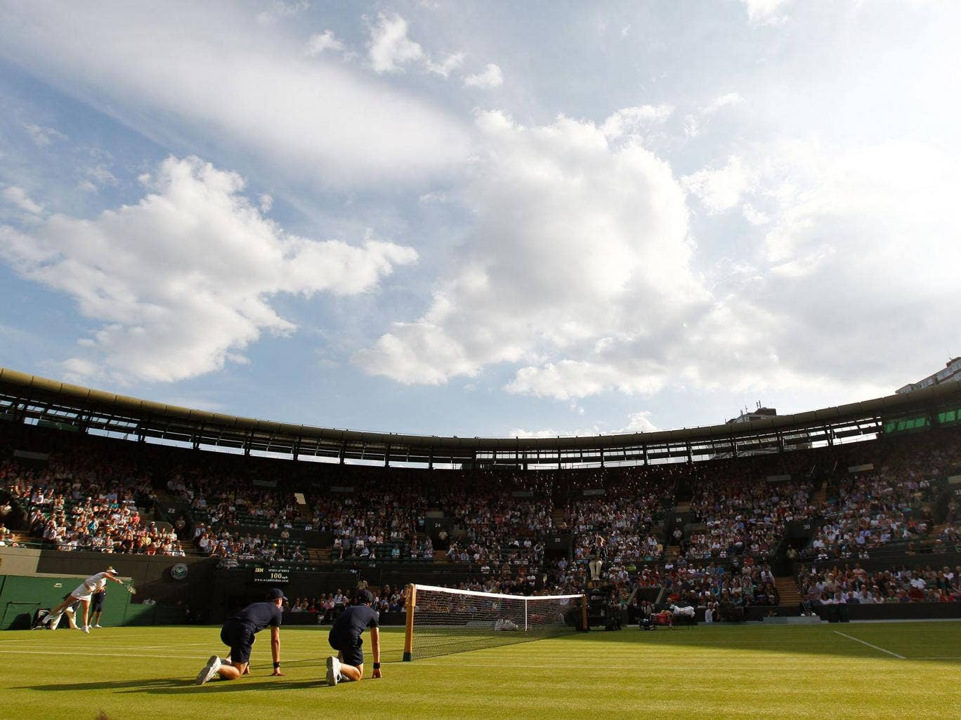 A view of Court One at Wimbledon