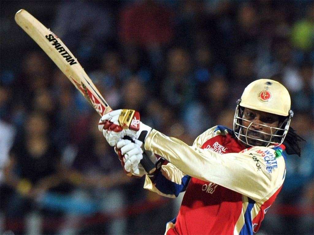 Gayle hit a record 17 sixes