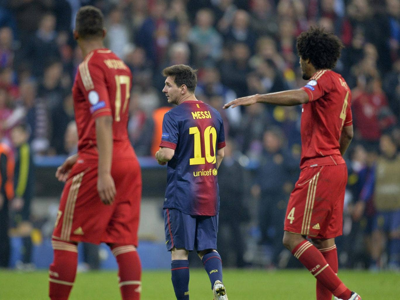 Lionel Messi pictured during Barcelona's 4-0 defeat to Bayern Munich