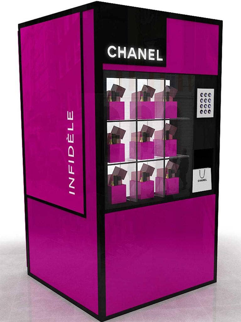 Beauty vending machines are in vogue at the moment
