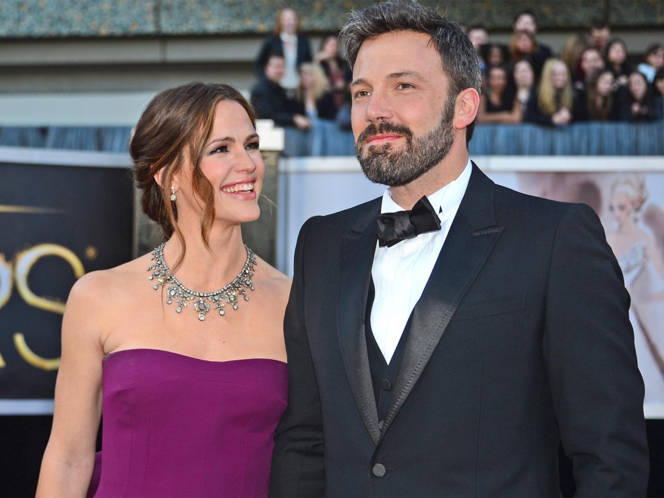 Ben Affleck with his wife Jennifer Garner