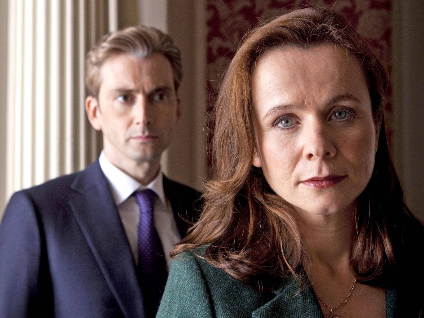 The eyes have it: David Tennant and Emily Watson in 'The Politician's Husband'