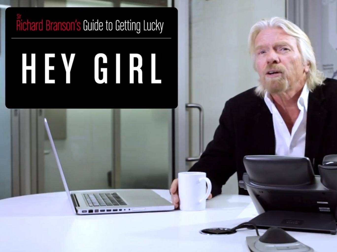 Sir Richard Branson in his guide to getting lucky at 35,000ft