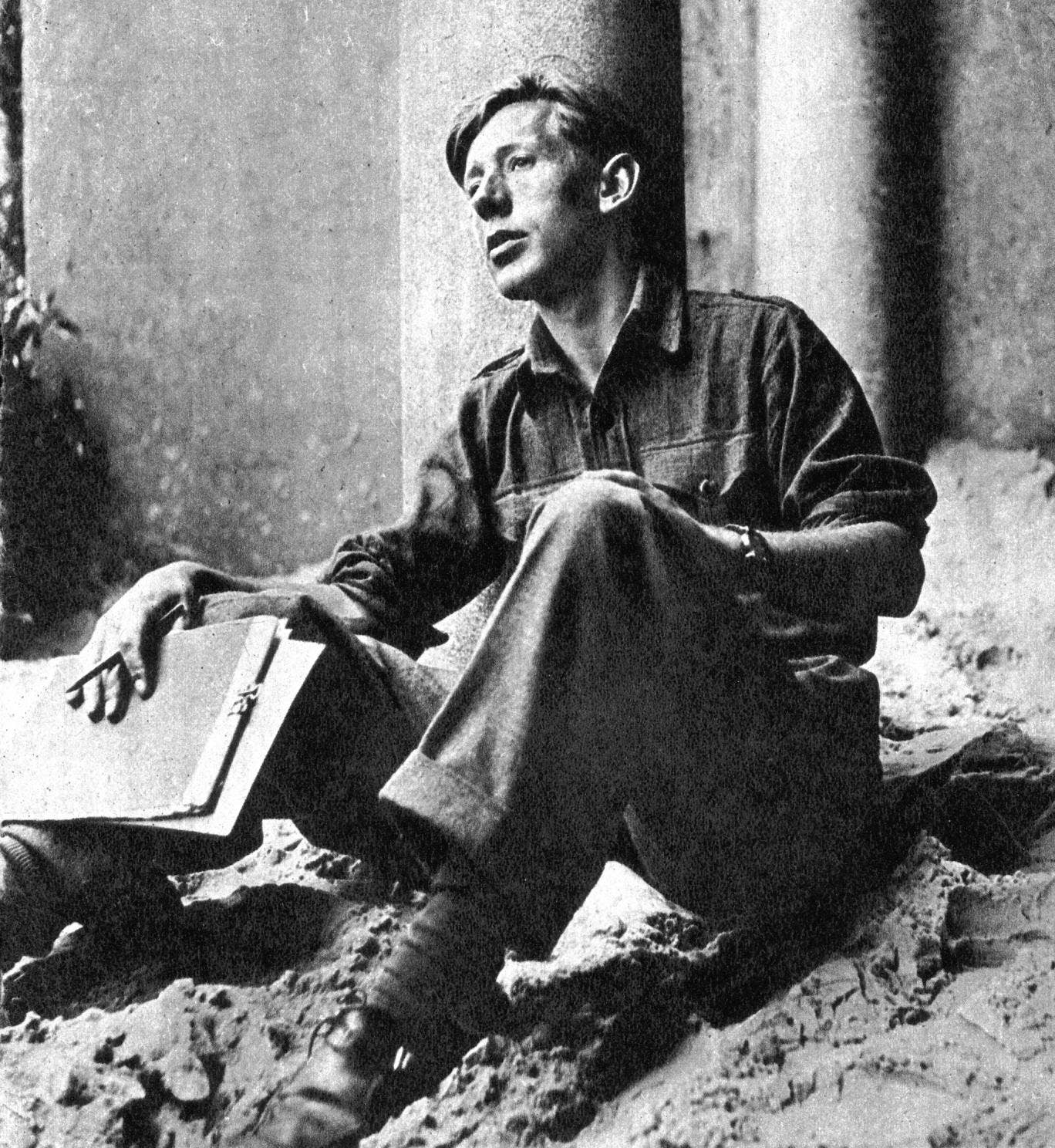 Laurie Lee, author of 'Cider with Rosie' (1959)