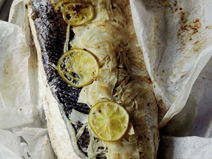 Baked Seabass by Monica Galetti