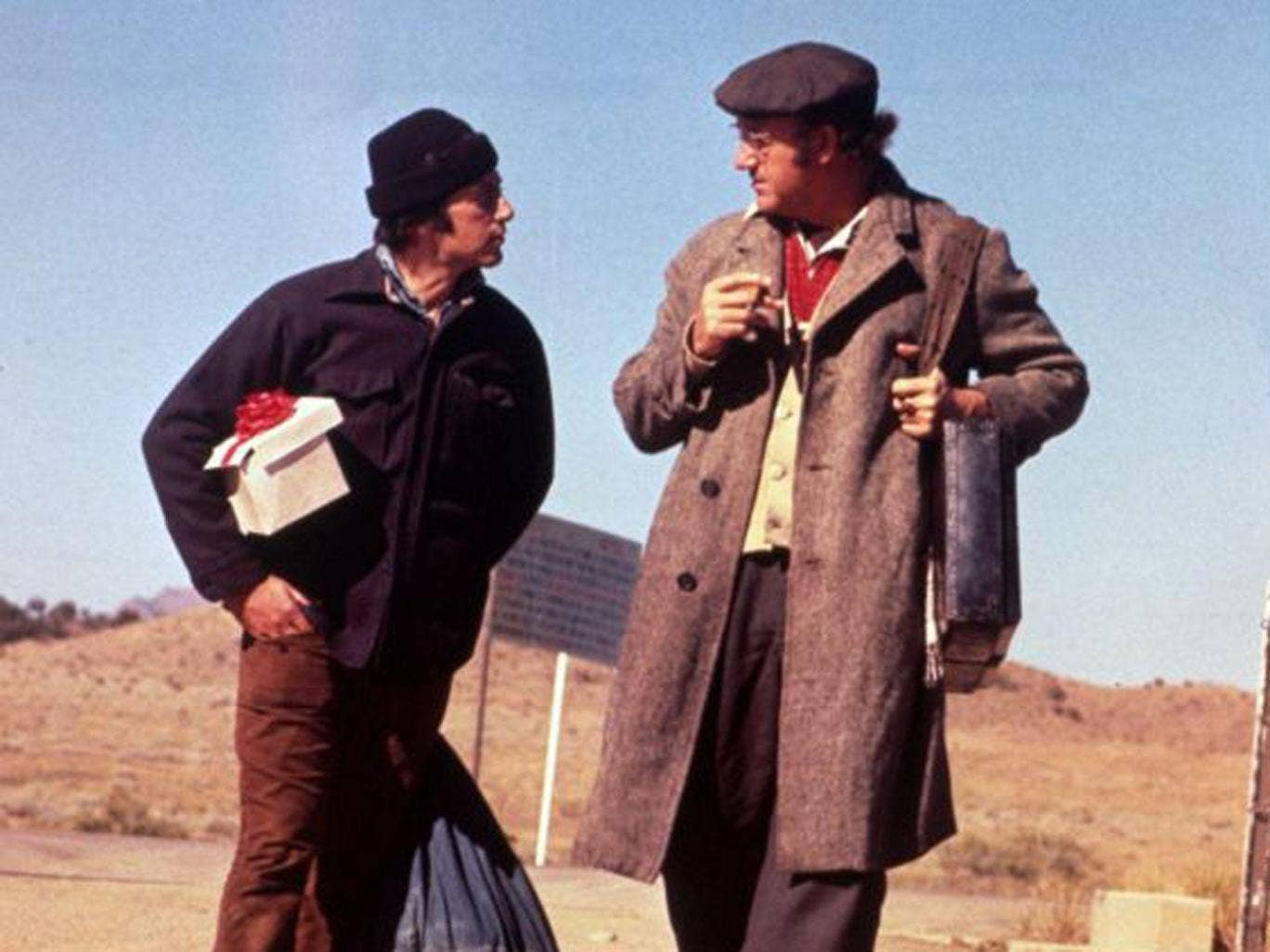 Gene Hackman and Al Pacino in the superior character drama 'Scarecrow'