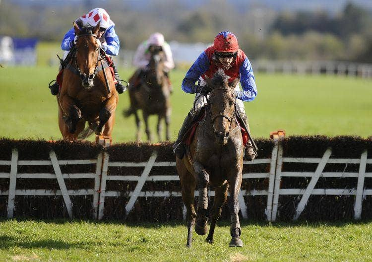 Quevega, under Ruby Walsh, heads for home to win the World Series Hurdle at Punchestown yesterday