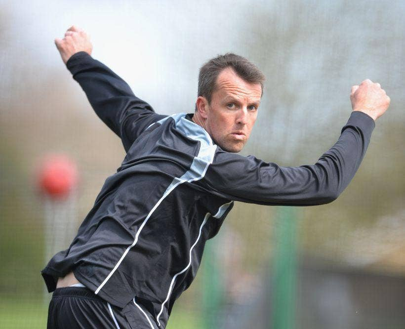 Nottinghamshire's Graeme Swann bowls in the nets as he nears his return