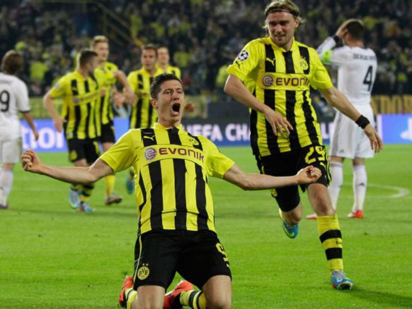 Dortmund's striker Robert Lewandowski is wanted by Bayern Munich