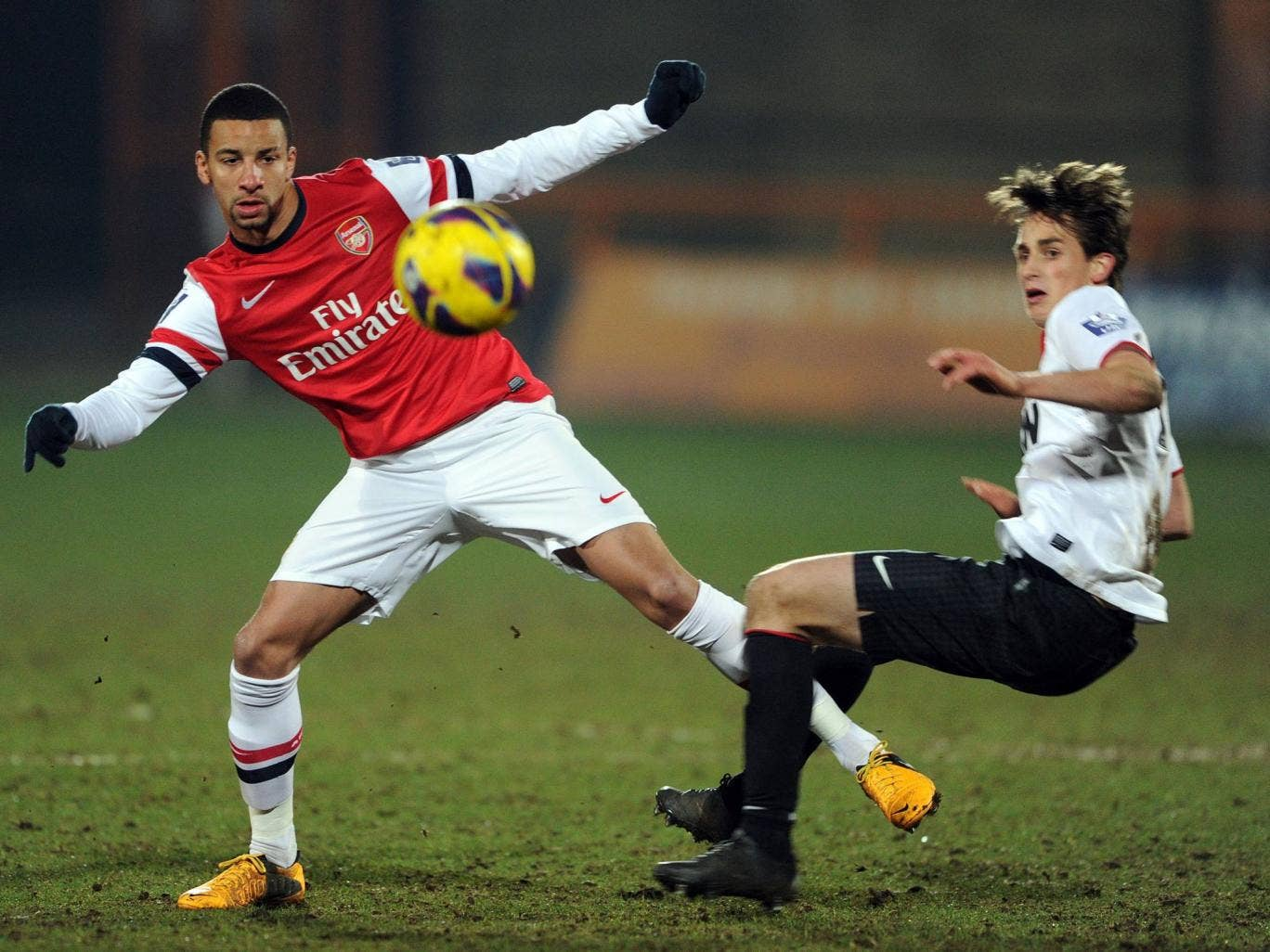 Manchester United youngster Adnan Januzaj pictured in an Under-21 match against Arsenal