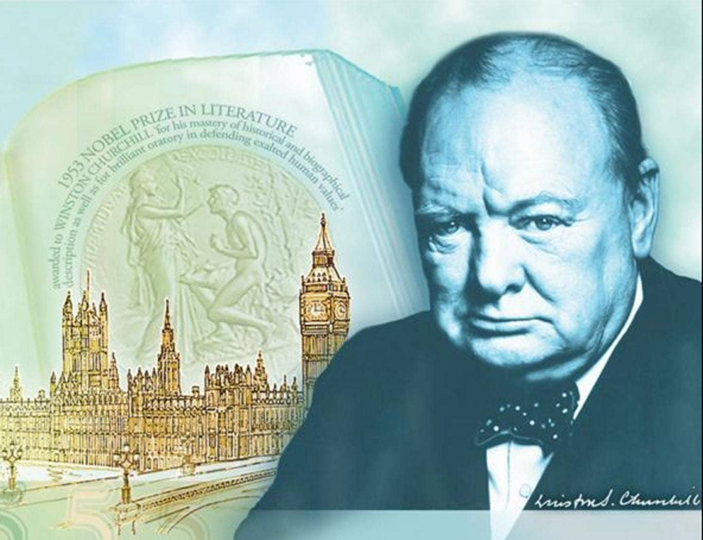 Sir Winston Churchill will appear on £5 notes from 2016