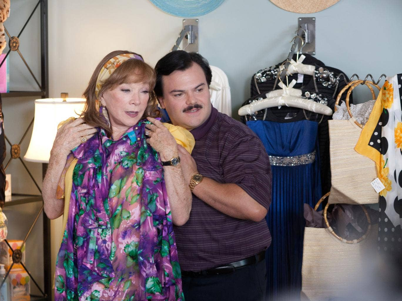 Odd couple: Jack Black plays a jolly funeral director who wins over a misanthropic Shirley MacLaine