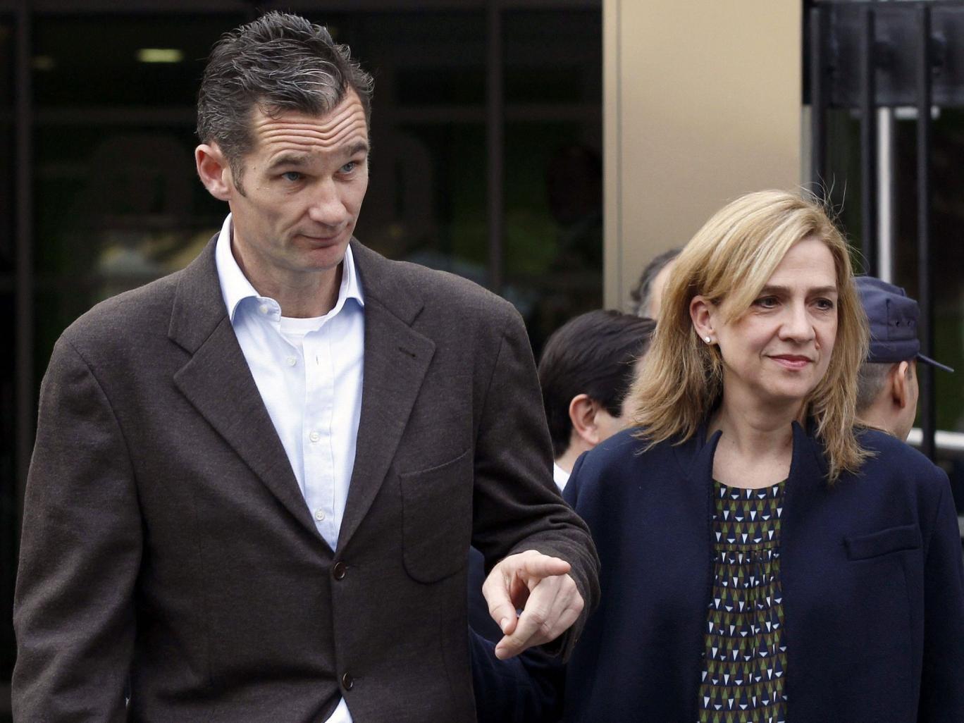 Spain's Princess Cristina, with husband Inaki Urdangarin