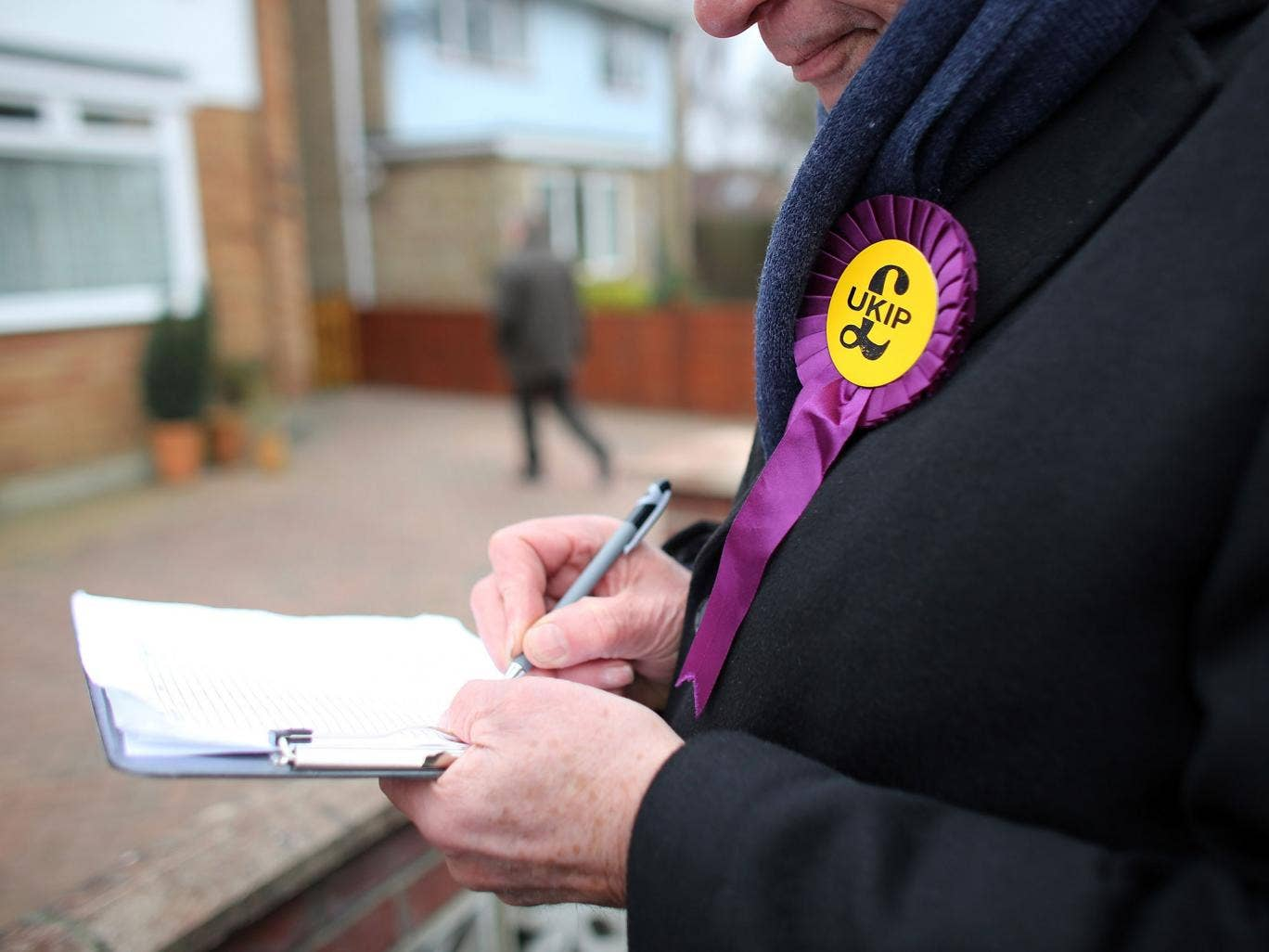 Ukip campaigner in Eastleigh, where the Tories came third in February