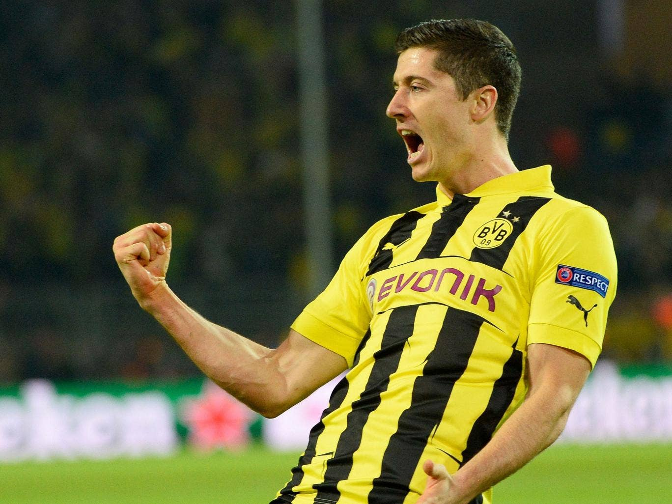 Four star: Robert Lewandowski is said to want a move to the Premier League