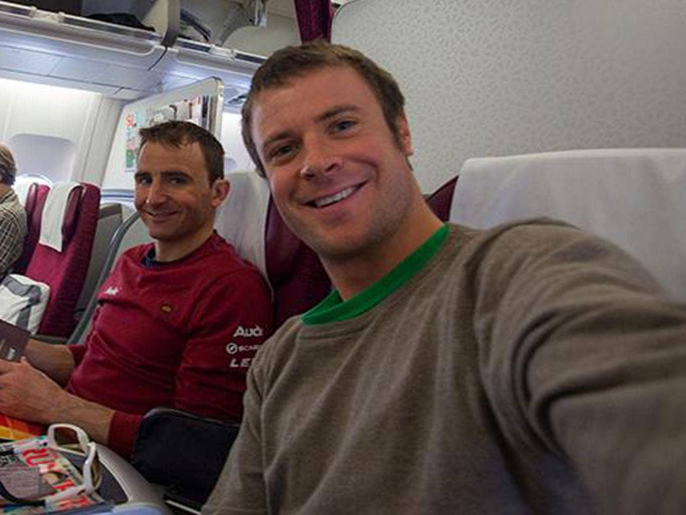 Ueli Steck, left and Jonathan Griffith, right, were both nearly killed when a they were threatened by a mob of up to 100 angry sherpas