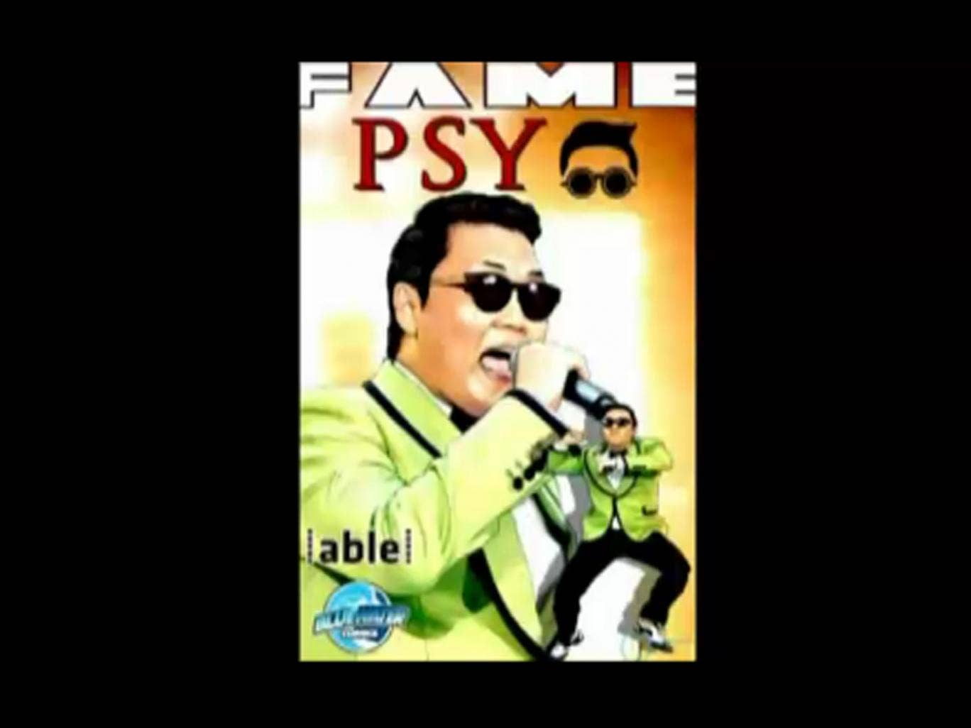 The front cover of 'Fame: Psy' which immortalises the South Korean pop star's life and rise to fame