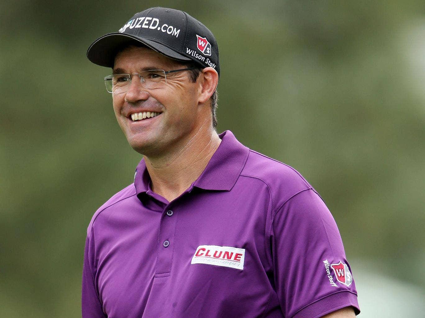 Padraig Harrington used a belly putter for the first time yesterday