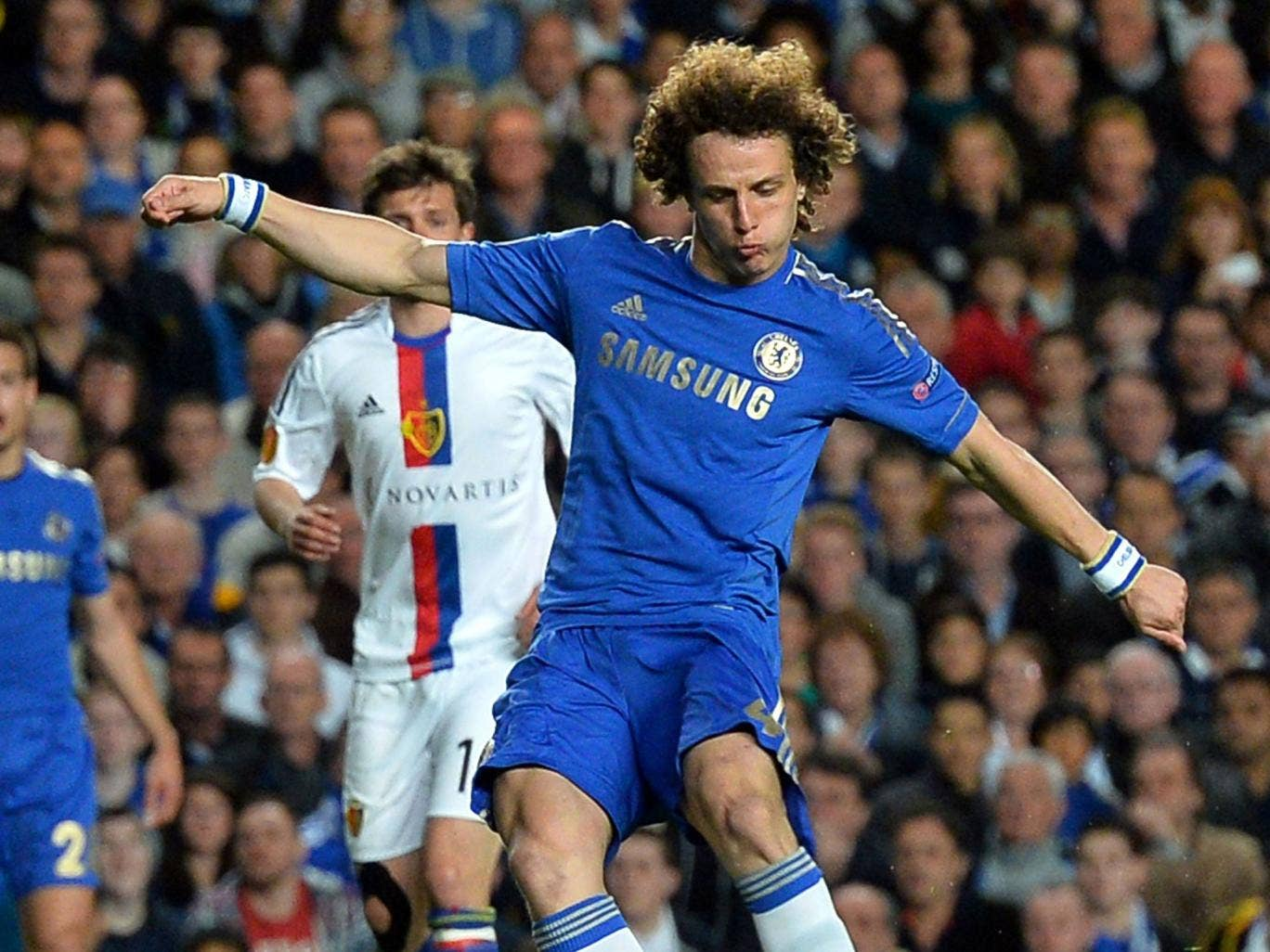 David Luiz hits another impressive goal for Chelsea at Stamford Bridge