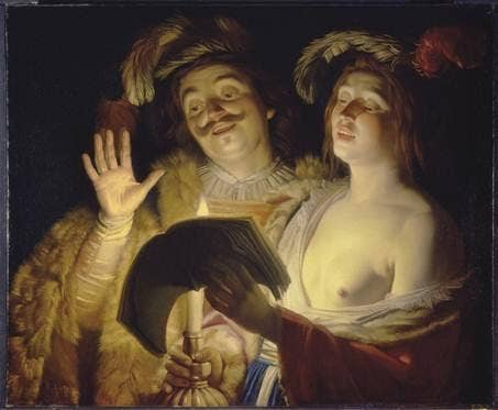 Gerrit van Honthorst (Utrecht 1592-1656) The Duet, 1624 (estimate: $2-3 million)