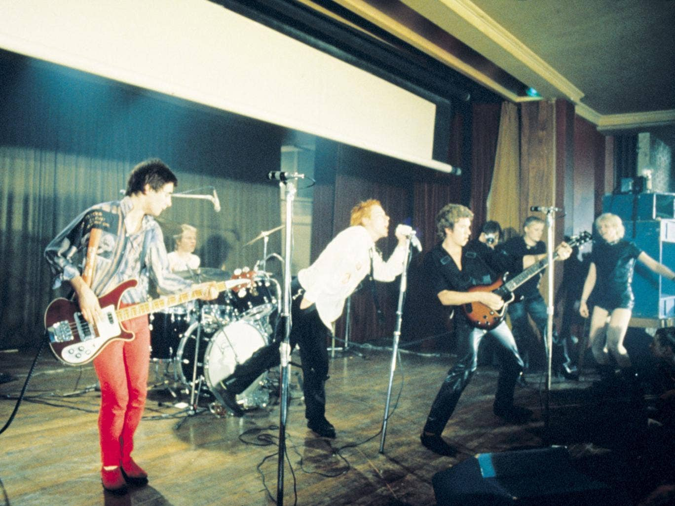 The Sex Pistols on stage at the ULU back in 1976