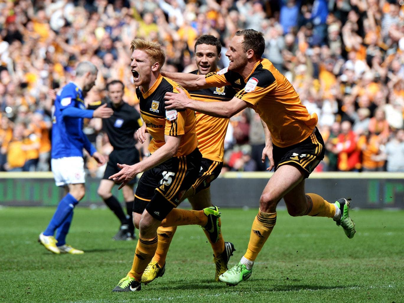 Hull eased through to the Premier League despite a dramatic end