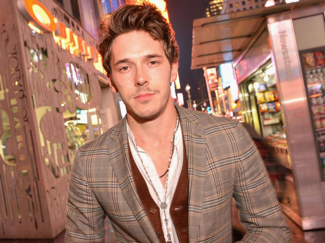 Persuasive: Sam Palladio plays a country singer in Nashville