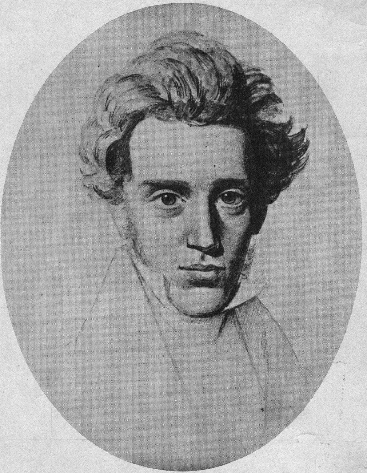 """Søren Aabye Kierkegaard was born on the May 5th 1813 and is considered one of the most significant and prolific writers of the Danish """"golden age"""" of intellectual and artistic activity."""