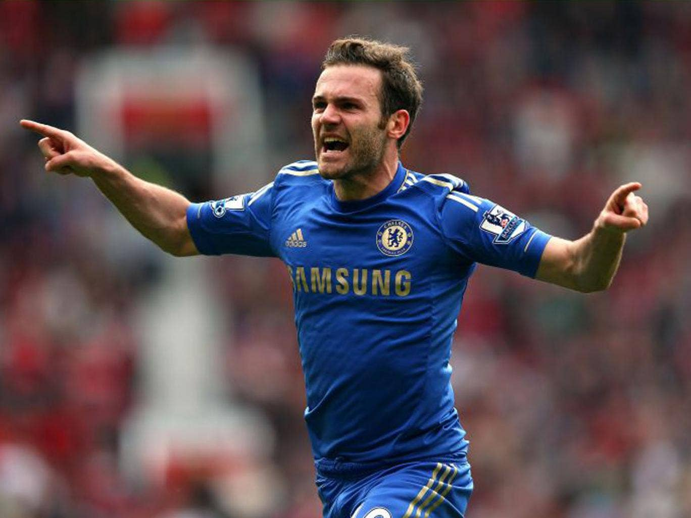 Juan Mata of Chelsea celebrates after scoring the winning goal (Alex Livesey/Getty Images)