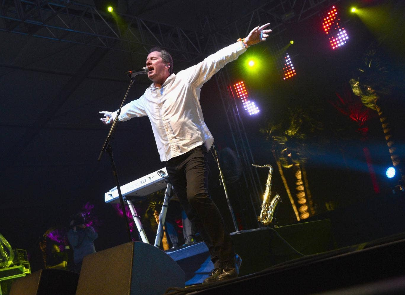 Orchestral Manoeuvres performing at Coachella 2013