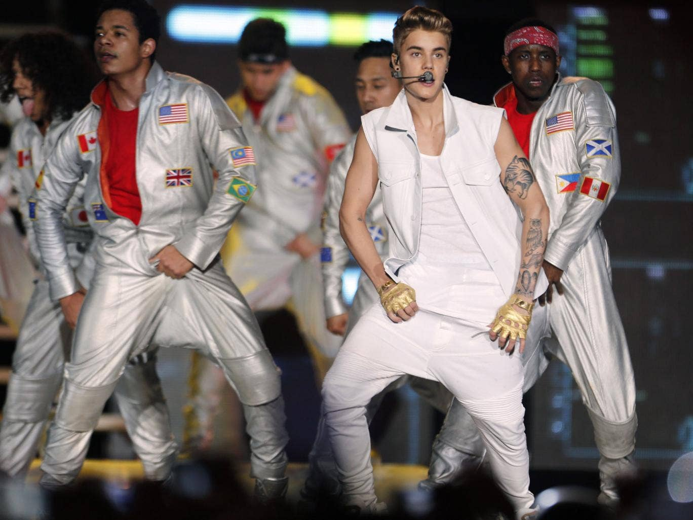 There was drama in Dubai when Justin Bieber was grabbed by a fan