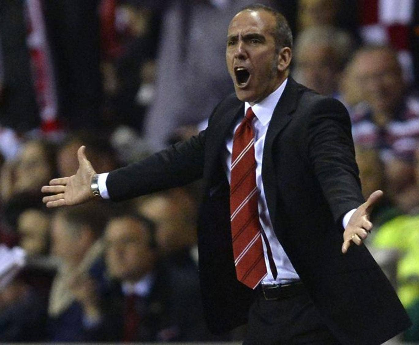 Sunderland's manager Paolo Di Canio reacts during their English Premier League soccer match against Stoke City in Sunderland