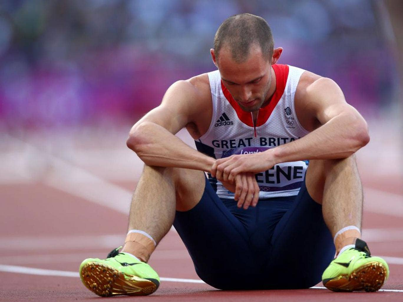 Dai Greene was just three-tenths of a second from winning medals in both the 400 metres hurdles and the 4x400m relay but, in the end, was left with two agonising fourth places