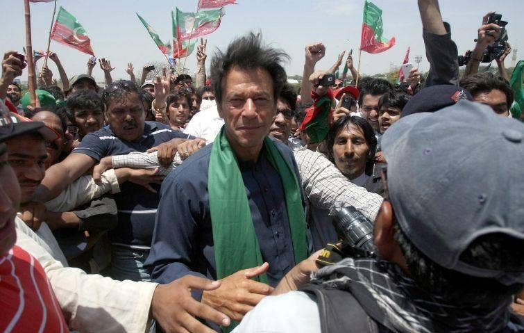 Mr Khan's party has claimed it was the victim of vote rigging in several areas of Pakistan, including Karachi, in national elections held on May 11.
