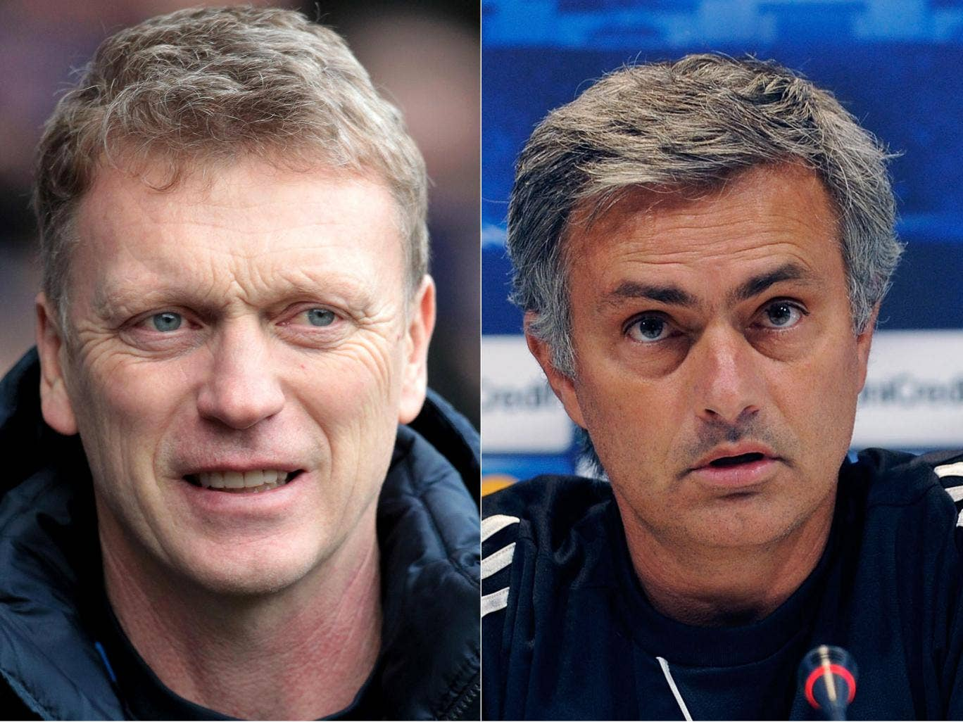 David Moyes (left) and Jose Mourinho are two of the possible candidates to replace Alex Ferguson