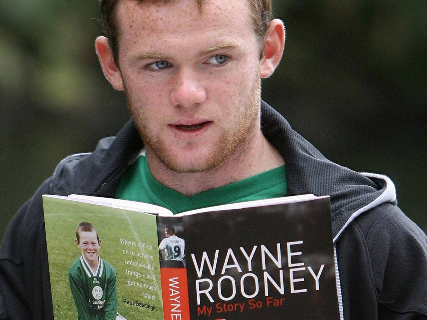 Manchester United striker Wayne Rooney launches his book 'My Story So Far'