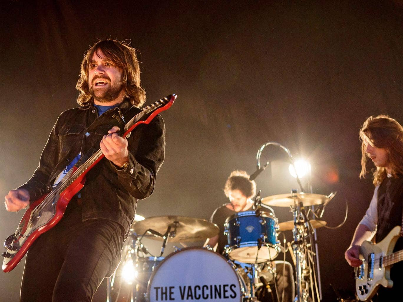The Vaccines, pictured playing in Leeds last Sunday
