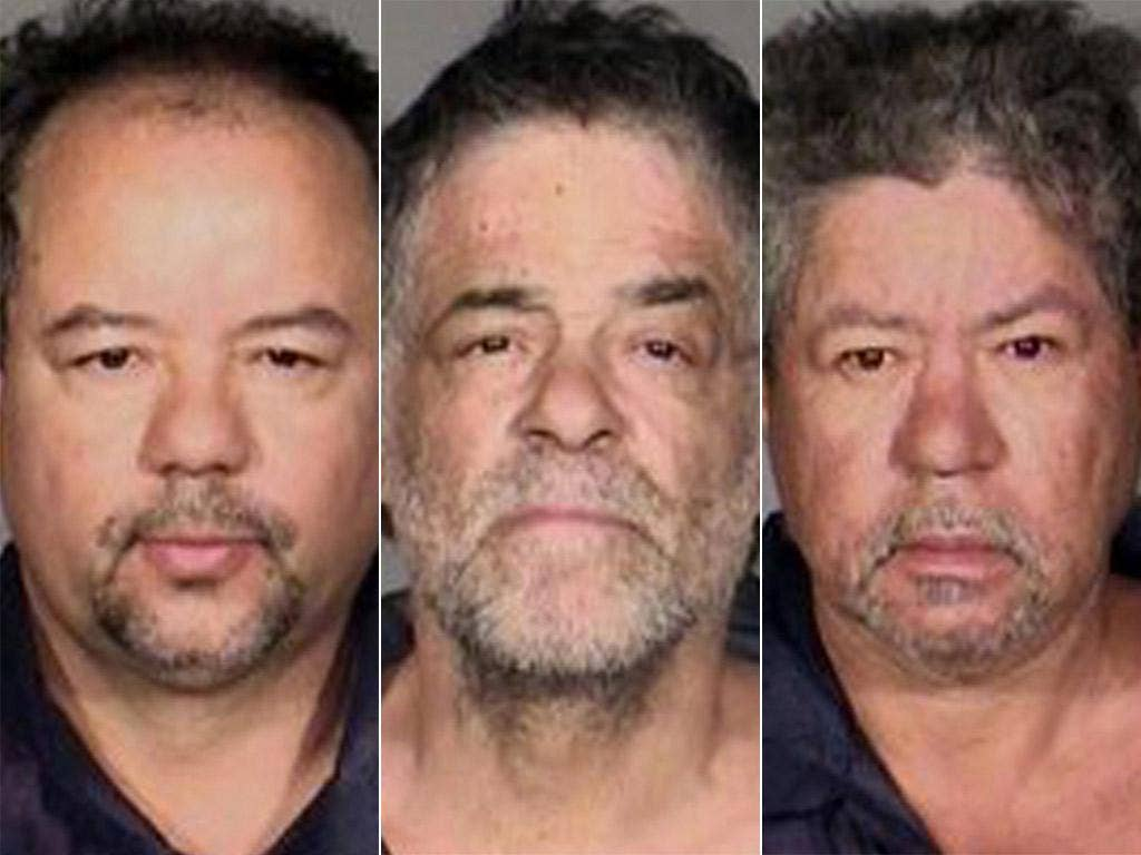 The three suspects; Ariel, Oneil and Pedro Castro
