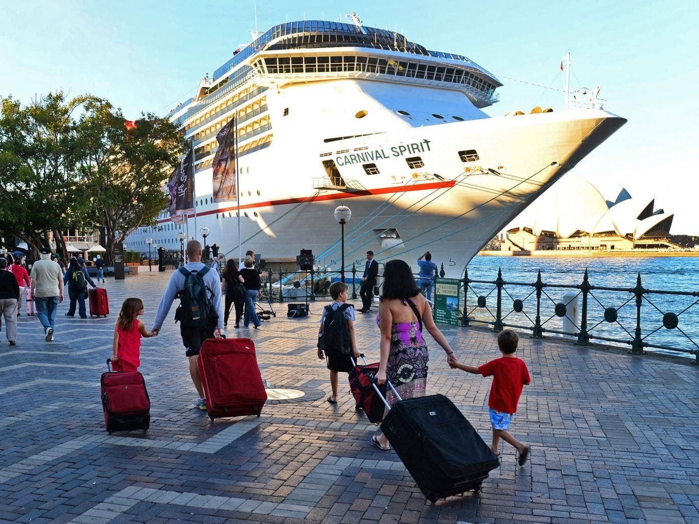 The couple, Australian citizens from New South Wales state, were discovered missing this morning after the Carnival Spirit docked at Sydney's Circular Quay, at the end of a 10-day journey.