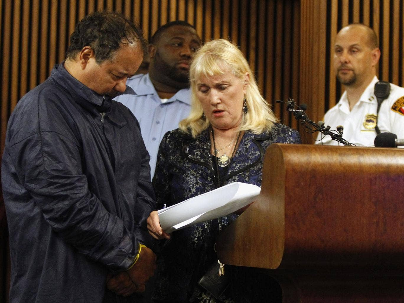Ariel Castro is arraigned at Cleveland Municipal Court in front of judge Lauren Moore