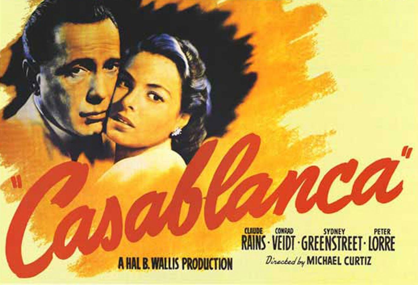 As every beginner pedant knows, Ingrid Bergman says 'Play it, Sam' in Casablanca