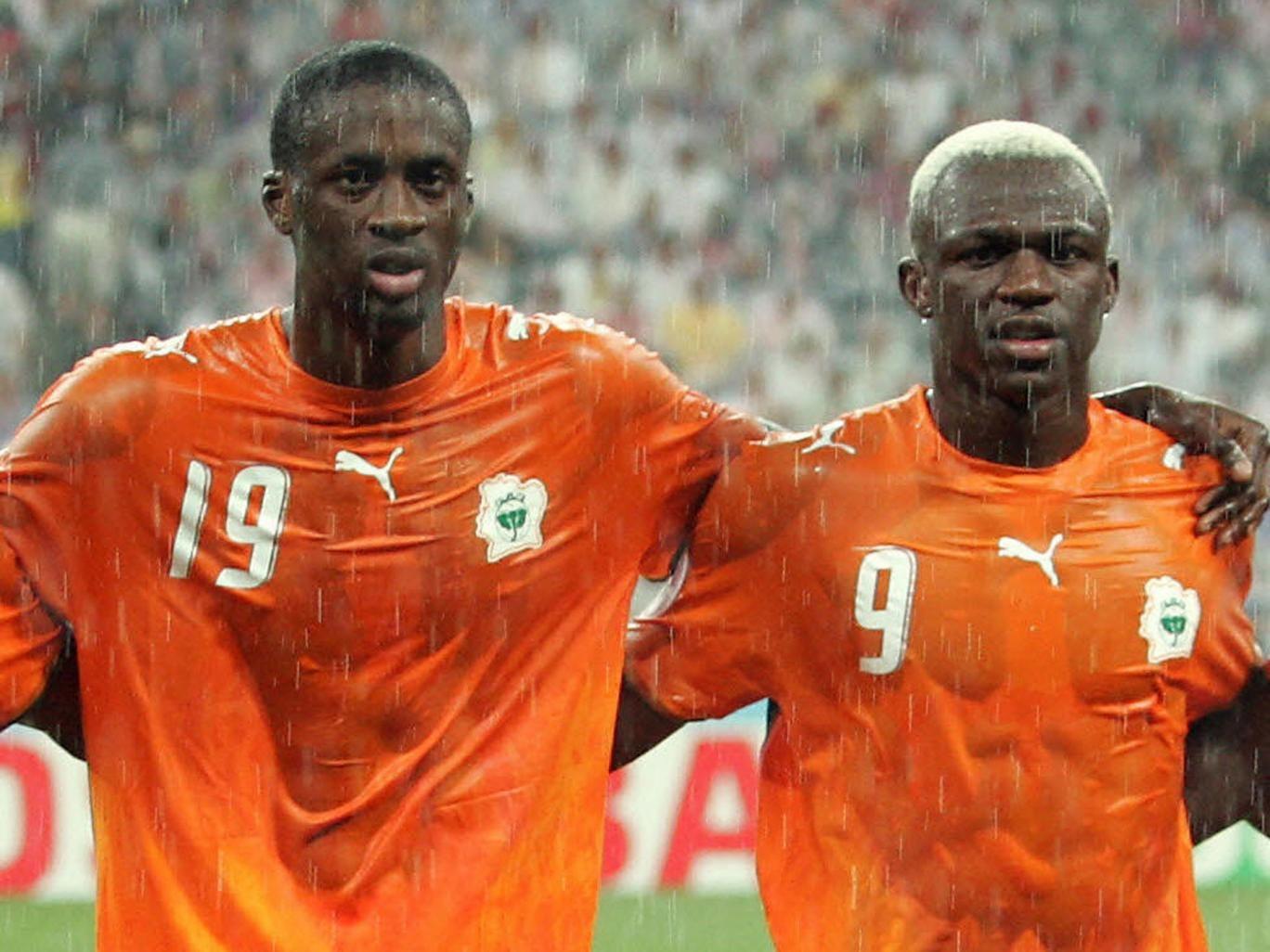 Yaya Touré (left) and Arouna Koné are Ivory Coast team-mates